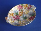Vintage Royal Winton 'Marguerite' Chintz Art Deco Dish c1945